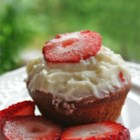 Real Strawberry Cupcakes