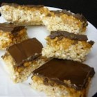 Chompo Bars - A storybook-inspired treat made with crispy chocolate rice cereal layered with peanut butter and more chocolate makes this a fun snack for everyone.