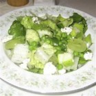 Green and Bleu Salad - This lemony salad is a treat for all the senses.