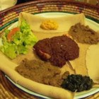 Injera - A flatbread from Ethiopia cooked in the skillet.  Millet flour gives a nutty tone.