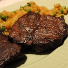 Venison Tenderloin - The finest cut of venison, the tenderloin is marinated in a red wine and vinegar sauce overnight then grilled or roasted. Medium rare is an excellent way to enjoy this fine cut of meat. The marinade can also be reduced and used as a sauce.