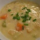 Fish Chowder II - This simple chunky fish chowder is made sweet with creamed corn.