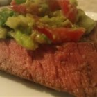 Flank Steak with Avocado Salsa - A spicy chili-flavored rub is used to add depth and complexity to grilled flank steak. Top with cool and creamy avocado salsa, roll up in a warm corn tortilla, and you have a wonderful summer meal.