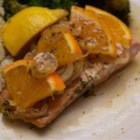 Orange Roasted Salmon - I like to make this for company since you can get it ready ahead of time up until the final baking step. It looks both pretty and impressive, and the orange flavor is more subtle than you'd expect. This is a healthy and elegant meal (not to mention delicious) when served with a leafy salad, brown rice, and asparagus.