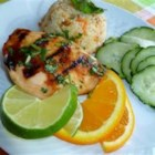 Tropical Grilled Chicken Breast - These grilled chicken breasts are marinated in a simple citrus marinade made with lime, orange juice, honey, and red pepper flakes.