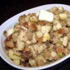 Sausage and Apple Stuffing - Stuffing mix is transformed into a remarkable holiday delight with the addition of a pork sausage and apple mixture.