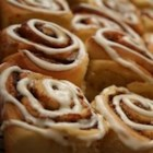 Cinnamon Rolls III - Here's an easy alternative to buying those famous cinnamon rolls in the mall.  They taste exactly the same, and the dough is made in the bread machine.