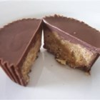 Homemade Peanut Butter Cups - Just like the candy!  You'll need 30 mini (1 3/4 by 1 1/4 inch) paper cups for filling.