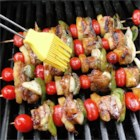 Easy Teriyaki Kabobs - Bite-sized cubes of pork tenderloin are skewered with a colorful mixture of pineapples, tomatoes, and bell peppers, then grilled to perfection.