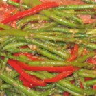 Asparagus and Red Pepper with Balsamic Vinegar - A bright and flavorful vegetable side dish with asparagus, red bell pepper, and red onion, that even vegetable haters will enjoy.
