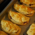 Forfar Bridies - Traditional Scottish pasties filled with seasoned lamb.