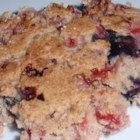 Blended Berry Pancakes - Finely chopped strawberries and whole blueberries add their fruity sweetness to pancakes that are easy enough for anyone to make.