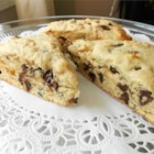 Hazelnut Chocolate Chip Scones - Delicious 'pick-me-up-snack' any time of the day for chocolate chip lovers.