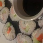 Cream Cheese and Crab Sushi Rolls - Delicious and surprisingly simple sushi rolls with imitation crab, cream cheese and cucumber.