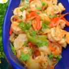 Camarones al Ajillo (Garlic Shrimp) - Large shrimp are cooked with ten cloves of garlic in this fragrant dish.