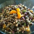 Black Bean and Wild Rice Salad - I love this cold salad as a light lunch or dinner, or as a side dish in the summer or fall. The orange and herb vinaigrette is really delicious!