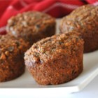 Bran Flax Muffins - These spicy muffins are loaded with fiber and flavor. Oat bran and flax seeds along with carrots, raisins, apples and nuts make a healthy difference here.