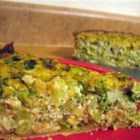 Tofu Quiche with Broccoli - Broccoli is baked with a creamy mixture of pureed tofu and soy milk with a hint of Dijon mustard and garlic.  Substitute spinach for the broccoli, if you prefer.