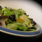 Sweet and Sour Salad - Soy sauce and sugar, added to a bit of vinegar and oil, stir up into a dandy dressing that tops this broccoli/romaine salad. Lightly toasted ramen noodles and chopped walnuts are sprinkled on before serving.
