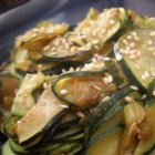 Chinese Braised Zucchini - Black bean sauce, ginger and thai chilies make this zucchini a perfect side dish to go along with any Chinese-style main dish. Add eggplant and snow peas served with a side of fried rice for an exotic weekday meal