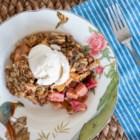 Rhubarb Crisps and Crumbles