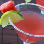 Watermelon Martini - Sweet watermelon juice is shaken with vodka and watermelon schnapps in this refreshing summer cocktail.