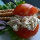 Imitation Crab Salad - This is a crab salad made with a bread filler.