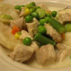 Leftover Chicken a la King - Using leftover chicken and frozen vegetables hastens the prep time of this already convenient dish.