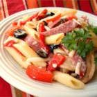 Kathy's Delicious Italian Pasta Salad - This  delicious pasta salad is always a big hit at parties and it's so easy  to make.  Everyone is always asking me for the recipe.  Try it for  yourself with the pasta of  your choice.