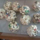 Popcorn Candy Balls - This is similar to making crispy rice squares but using popcorn instead.