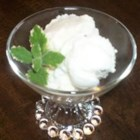 Frozen Greek Yogurt - Cold, smooth, and refreshing, frozen Greek yogurt with minted honey is the perfect dessert for a warm summer evening.