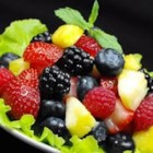 Berry Fruit Salad - Fresh berries with a touch of sugar are easily packed into resealable containers for a refreshing lunch box dessert.
