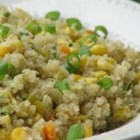Quinoa with Veggies - I love quinoa and I wanted to make something that was flavorful and filling. The vegetables can be changed to your liking!