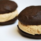 Stef's Whoopie Pies with Peanut Butter Frosting - Not like other whoopie pies, these cake cookies are even more chocolaty and cakey!