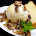 Praline Sundae Topping - This can be served warm or cold over ice cream. Store in refrigerator.
