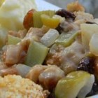 Apple and Onion Dressing - Delicious dressing great on its own or baked with your favorite meat. Originally submitted to ThanksgivingRecipe.com.