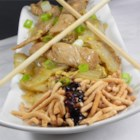 Mu Shu Pork - A savory stir-fried pork and Napa cabbage dish with shiitake mushrooms is wrapped into prepared Chinese pancakes for a fun, delicious Asian meal.
