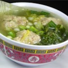 Chinese Lion's Head Soup - Cabbage is simmered with home made pork meatballs in a light chicken broth. This is my family's version of lion's head soup and for me it is the best type of comfort food! It is best served with white sticky rice, and wonderful enjoyed on a cold winter day.
