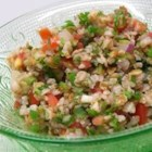 Cilantro Tabouli - Whether you can't get enough cilantro or you just want something different, this cold tabouli salad made with cilantro instead of mint is for you.