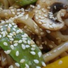 Sesame Udon Noodles - This is a wonderful side dish to serve with your Asian-themed meal. So quick and easy to prepare.