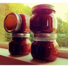 "Easy Apple Rhubarb Jam - ""Although apple-rhubarb jam may sound weird, it is amazingly delicious! You can substitute strawberries for the apples to make strawberry-rhubarb jam."""