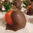Chocolate Strawberries - Strawberries dipped in melted bittersweet chocolate are simple and elegant.