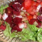 Dilly Tomato and Beet Salad - This refreshing beet and tomato salad is simply dill-icious!