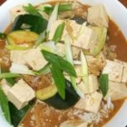 Korean Bean Curd (Miso) Soup - Korean bean curd paste and Korean hot pepper paste are the featured ingredients in this quick soup with zucchini, potato, mushrooms and tofu.