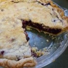 Saskatoon Pie - A not-too-sweet and fruity pie. Saskatoon berries are known as serviceberries in the United States. This berry has often been compared with blueberries though it has more of an apple flavor.