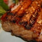 Heather's Grilled Salmon - A simple marinade of brown sugar and soy sauce is jazzed up with the addition of lemon pepper and some dried herbs. Grilled salmon never tasted so good!