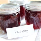 BC Cherry Jam - Making your own homemade jam when juicy, sweet cherries are in season is a great way to save a little taste of summer for later in the year.