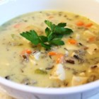 Chicken Wild Rice Soup I - A slight variation on a recipe I received from a fellow Minnesota farm wife. A delicious soup that can also easily be cooked in a slow cooker and freezes well.
