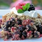 Triple Berry Crisp - This is a wonderful berry crisp. I use a triple berry mixture of raspberries, blackberries, and blueberries, but just one works well too! My family loves it! Serve it with whipped cream and it looks great.
