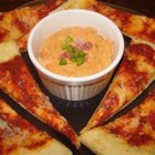 Pizza Dip - Great dip for parties or for snacks for the family. Easy to prepare. Serve with pita bread chips, crackers, or even a thin sliced baguette.